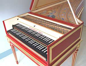 ZHI French Double Manual Harpshchord