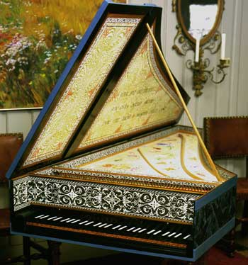 Assembled and Decorated Flemish Single-Manual Harpsichord